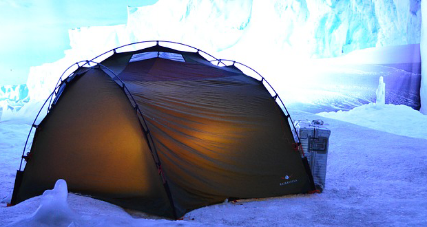 Winter camping requires special gear.