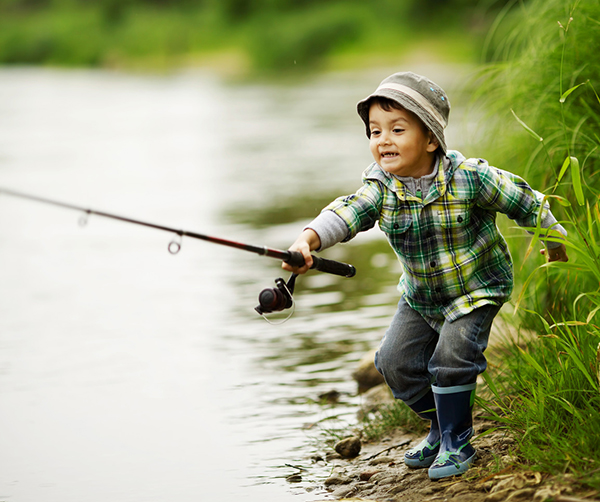 6 tips for successful river fishing 50 campfires for Little boy fishing