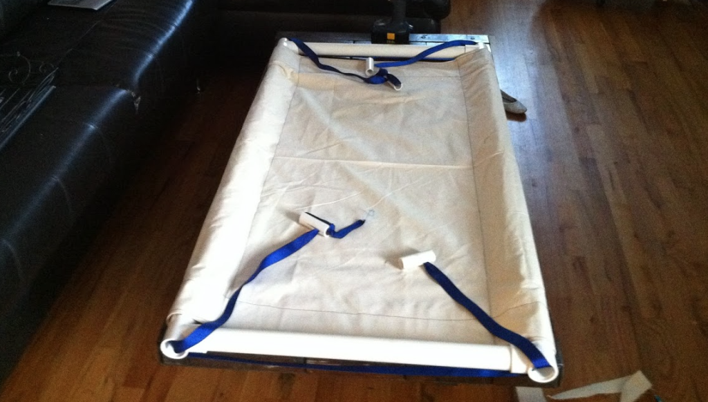 """""""The sewing was the hardest part. This is $10 worth of canvas from walmart."""""""