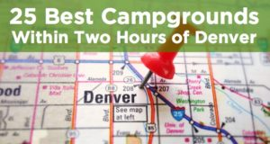 campgrounds within two hours of denver