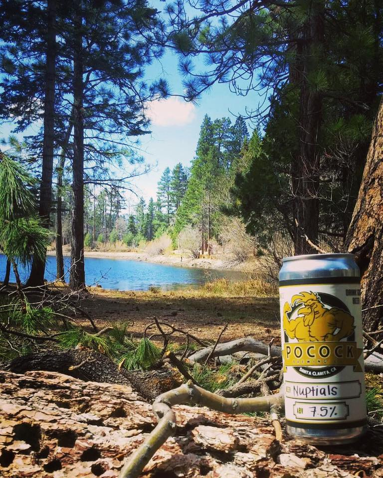 Enjoying the outdoors with some craft beer, perfect use of a crowler