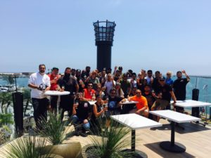 The crew of the Ballast Point Long Beach, CA Tasting Room and Kitchen