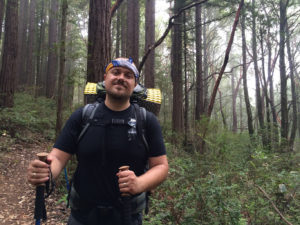 Chris hiking