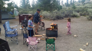 Michael and family camping at June Lake,-CA