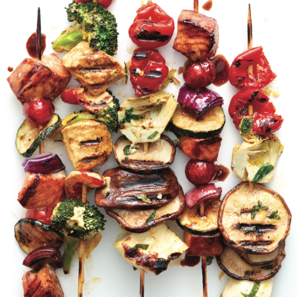 Click here to see Chatelaine's recipe for Greek Antipasto Kebabs</a