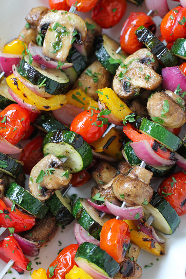 Click here to see Olga's Flavor Factory recipe for Grilled Vegetable and Mushroom Kebabs</a