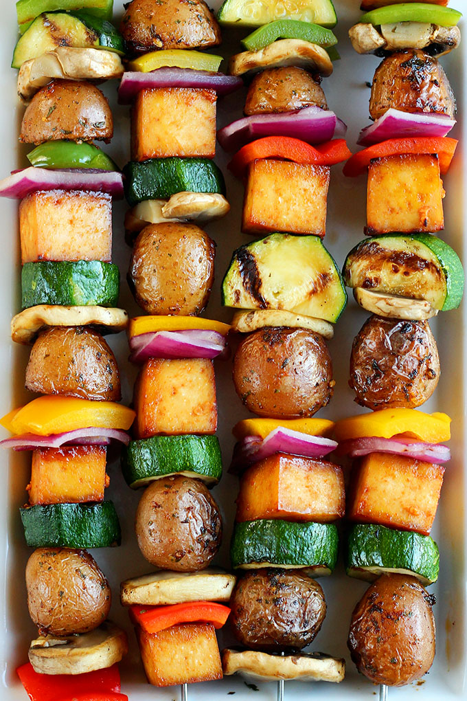 Click here to see I Love Vegan's recipe for Grilled Veggie Potato Kebabs</a