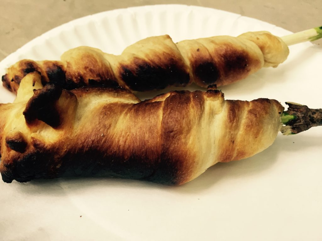 crescent rolls on a stick