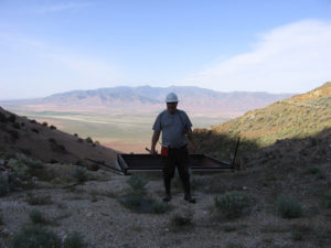 Jan at a mine in Nevada