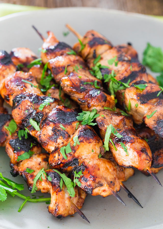 Click here to see Jo Cooks' recipe for Beer and Honey BBQ Chicken Kebabs</a