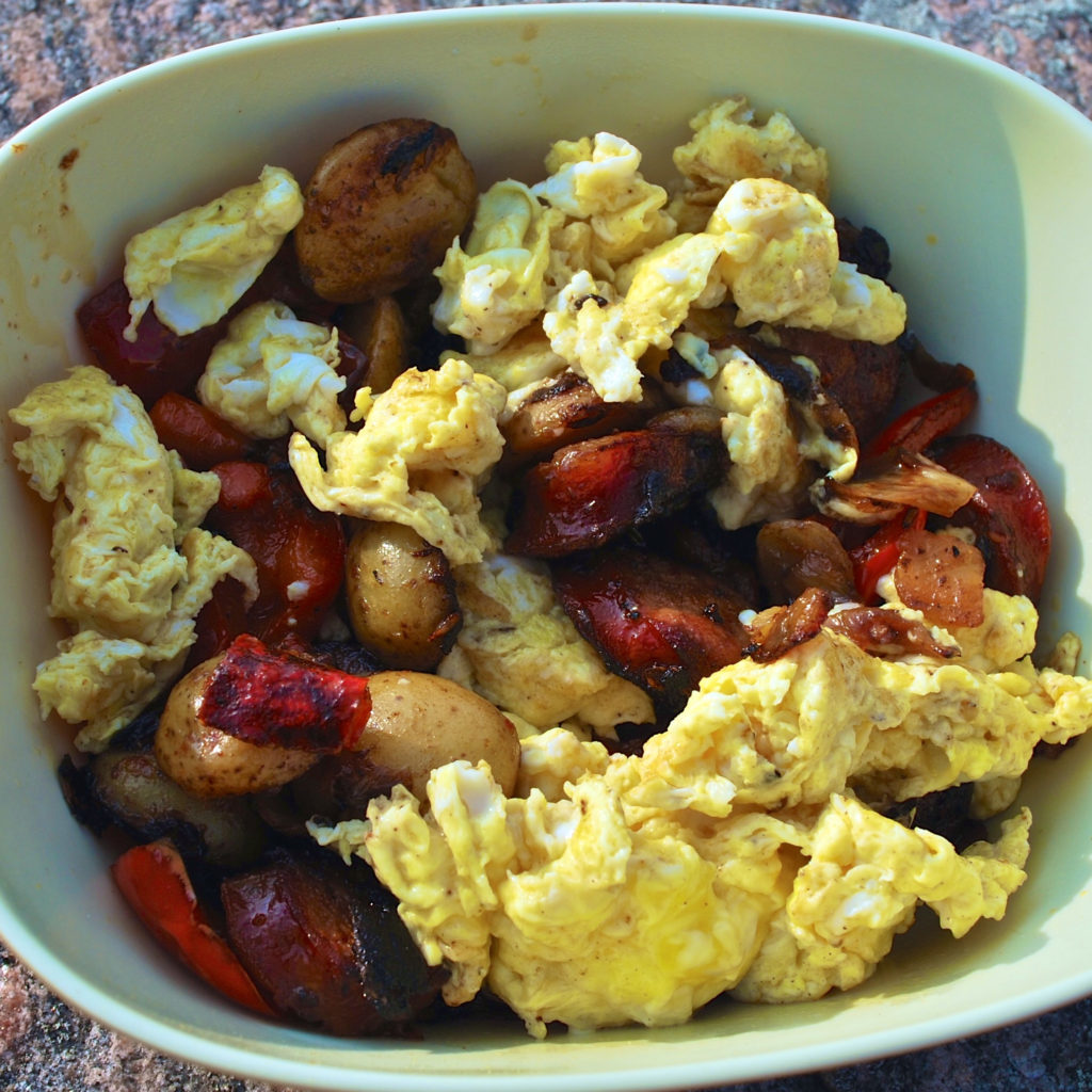 eggs with chorizo