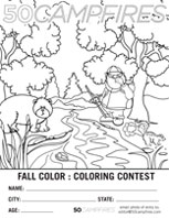 Fall Colors : Kids Coloring Contest - 50 Campfires