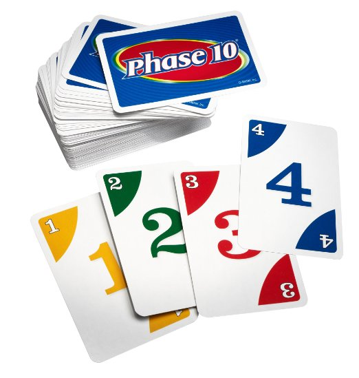 Phase 10 is great for 2-6 players, 7 years and up