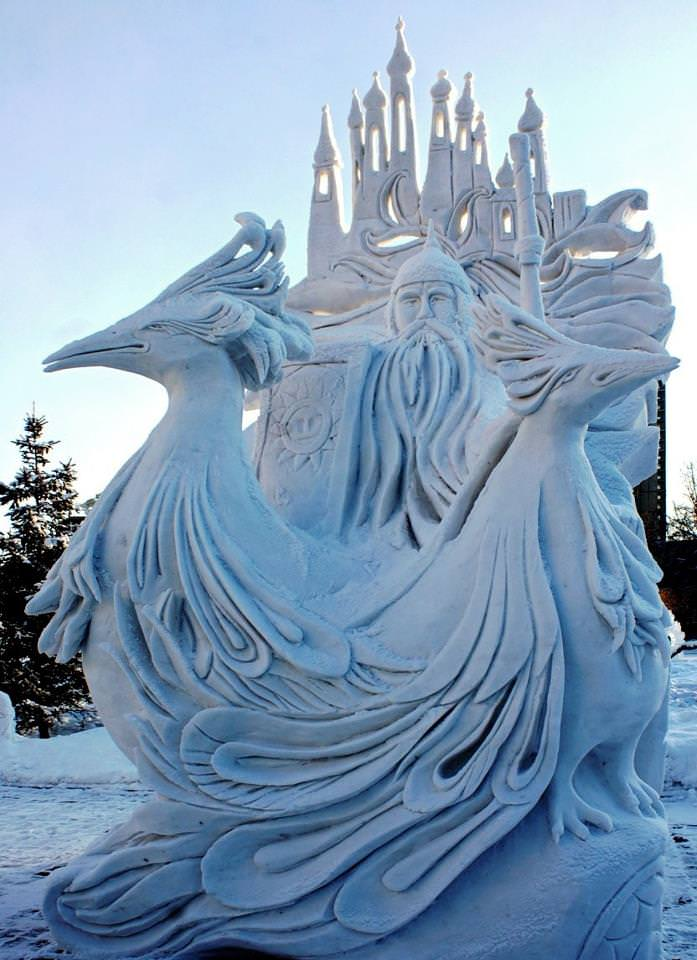 snow-sculptures
