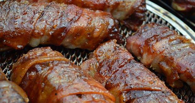 Smoked Bacon-Wrapped Ribs