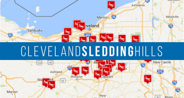 Lagrange Ohio Map.Map Of The 41 Best Sledding Hills In Cleveland Ohio 50 Campfires