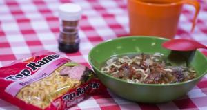 50 Campfires Nissin Top Ramen faux pho with beef jerky
