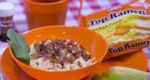 50 Campfires Nissin Top Ramen 'n Cheese recipe with bacon