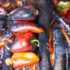 Red meat like beef and lamb are prime candidates for direct heat cooking. So are vegetables like these roasting peppers.
