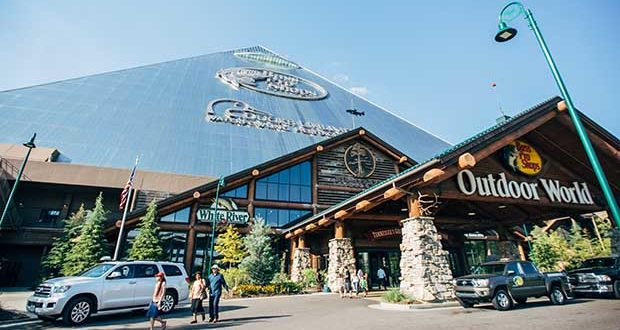 It's not hard to guess this is Bass Pro Shops at the Pyramid in Memphis, Tennessee.