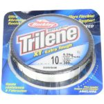 monofilament line of at least 10 pound test and up to 20 or more is best for catching catfish
