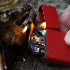 The most basic and convenient fire starting method is a lighter. Get one. Carry it!