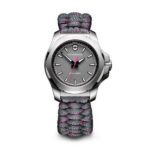 product shots of Victorinox Men's and Women's I.N.O.X. Carbon Watches against white background