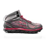 product shot of altra lone peak 3.5 mid running shoe against white background