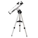 Bushnell GoTo North Star Reflector Telescope on tripod against white background