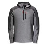 product shot of L.L. Bean Mountain Hoodie in gray and black against white background