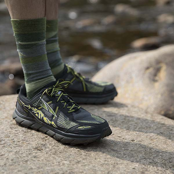 hiker's shoes treading the Appalachian Trail