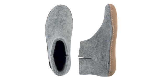 Glerups MG Natural Wool Boot Slipper