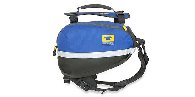 Mountainsmith K-9 Dog Pack makes it easy for your pet to carry its own weight!