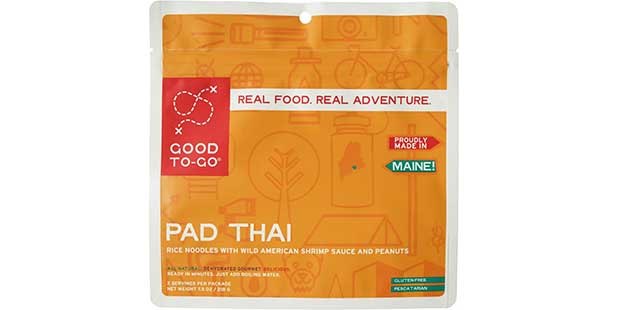 Pad Thai is a fantastic introduction to Good To-Go meals -- anywhere, but especially camping.