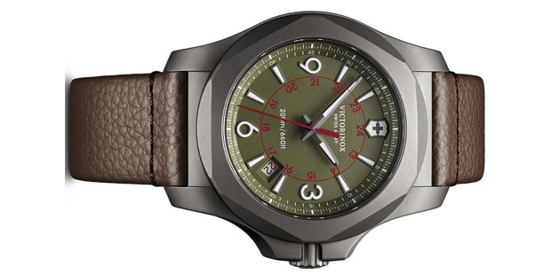 Victorinox Swiss Army I.N.O.X. Titanium Leather Watch