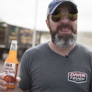 Clint was not impressed with Buffalo Wing soda in the Roadside Food Challenge