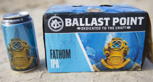 Cans of Ballast Point Fathom IPA are available almost anywhere.