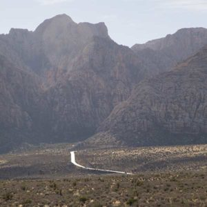 The long and winding road to Red Rock Canyon National Conservation Area.