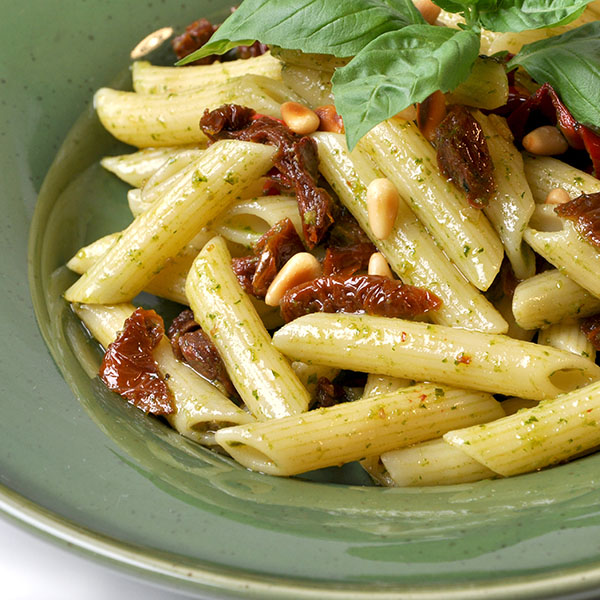 Pasta dishes like this are a traditional use of pine nuts, but Pinyon Pine Nuts make it extra special.