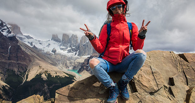 Another day, another mountain top for world traveler Kylie Fly.