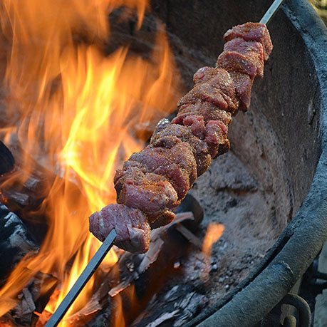 Father's Day Gift Idea Fire Grilling Cowboy Kabob