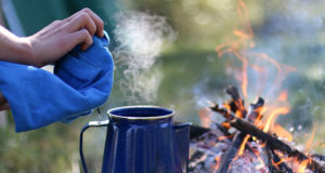 Even if you don't like the taste of coffee, the smell wafting across the campsite is nearly universally appealing.
