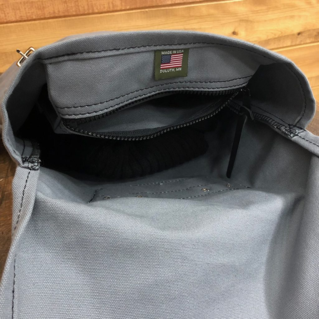 Easy to store smaller items in the Duluth Pack Scout
