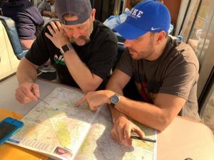 motorcycle camping charting course