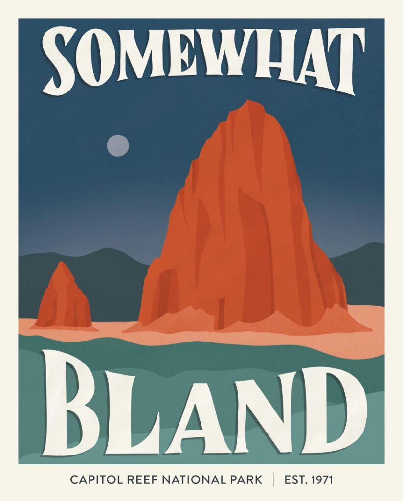 National Park Posters Based On Their Worst Review 50 Campfires