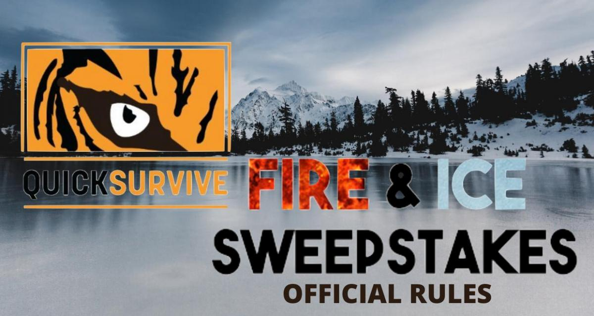 fire and ice sweepstakes official rules